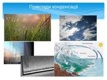 Приклади конденсації