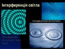 Інтерференція світла Інтерференція механічних хвиль звуку Інтерференція механ...