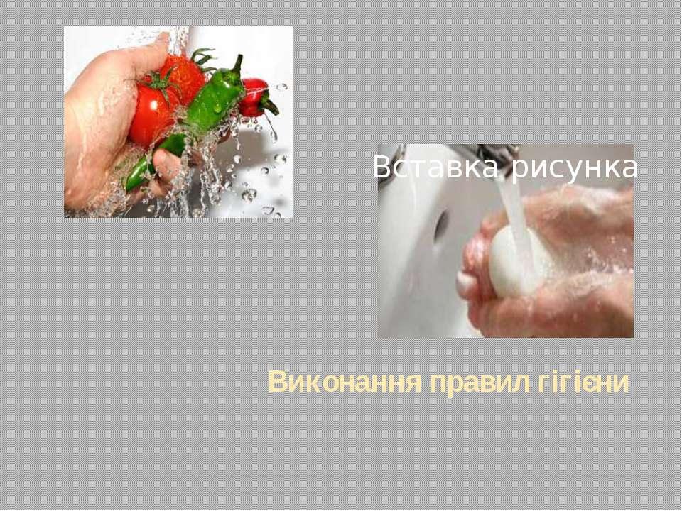 Виконання правил гігієни