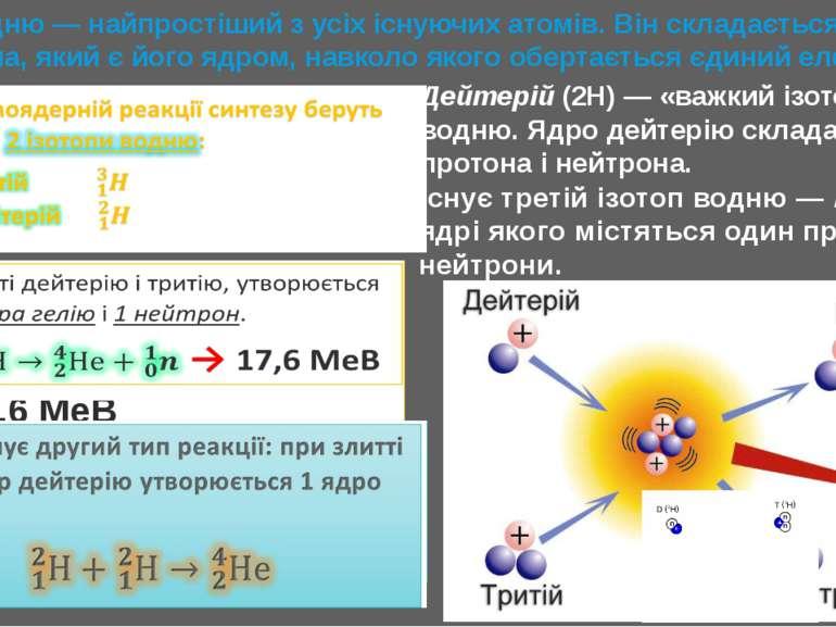 Атом водню — найпростіший з усіх існуючих атомів. Він складається з одного пр...