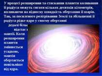 У процесі розширення та стискання планети коливання її радіуса можуть сягати ...