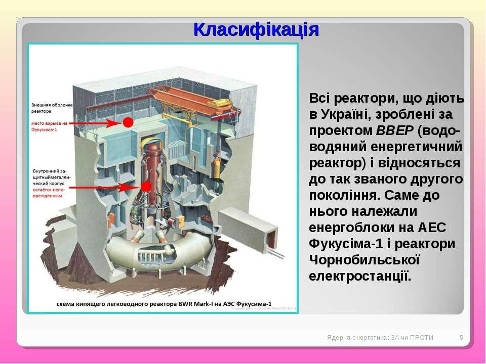 Ядерна енергетика: ЗА чи ПРОТИ * Всі реактори, що діють в Україні, зроблені з...