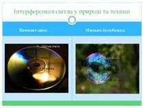 Компакт-диск Мильна бульбашка Інтерференція світла у природі та техніці