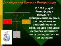 S N α γ β В 1899 році Е. Резерфорд в результаті експериментів виявив, що раді...