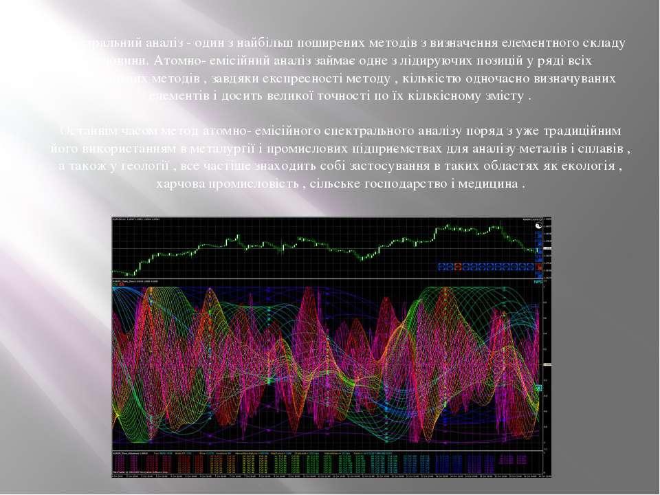 Спектральний аналіз - один з найбільш поширених методів з визначення елементн...