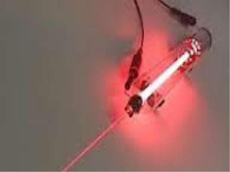 Лазер— джерелокогерентного,монохроматичногоі вузькоспрямованого електрома...