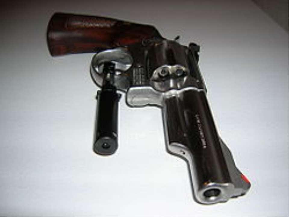 Револьвер, оснащений лазерним цілевказівником.