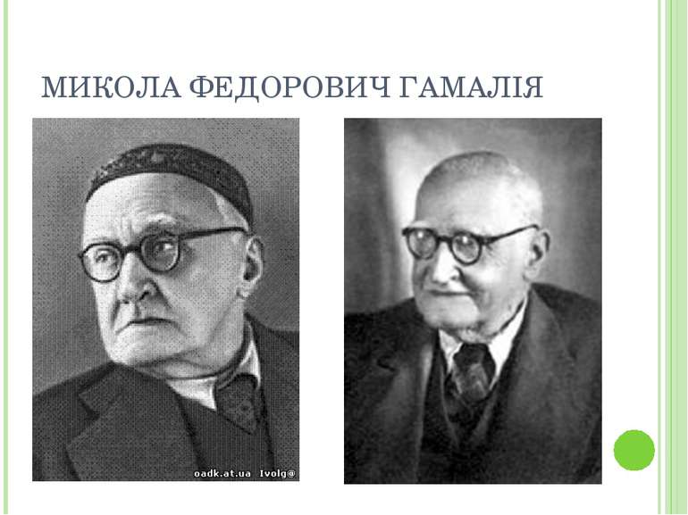 МИКОЛА ФЕДОРОВИЧ ГАМАЛІЯ