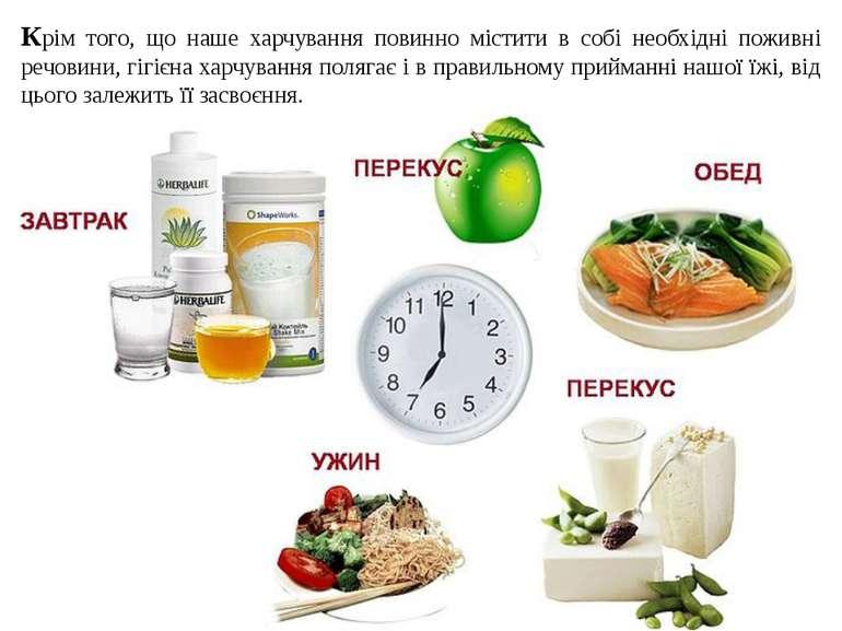 Крім того, що наше харчування повинно містити в собі необхідні поживні речови...