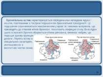 Бронхіальна астма характеризується періодичними нападами ядухи і кашлю, пов'я...