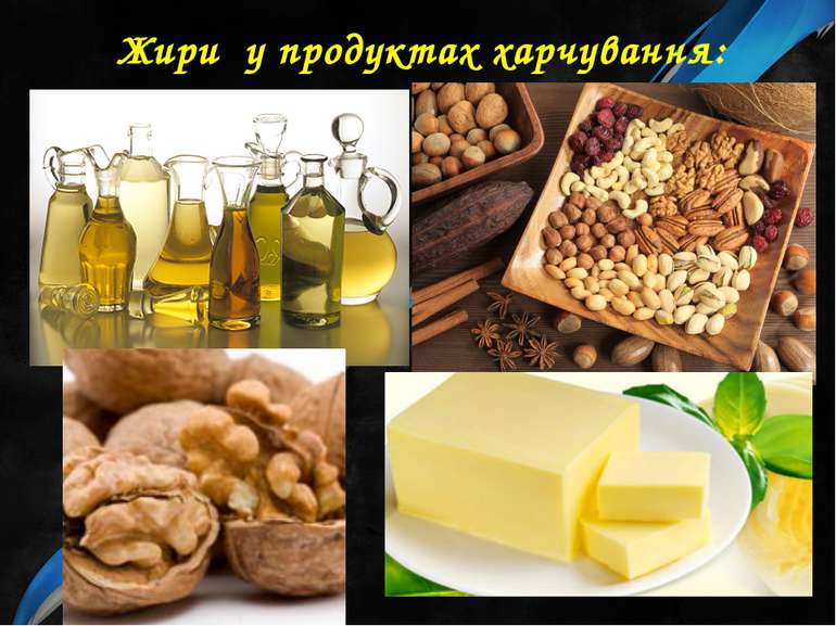 Жири у продуктах харчування: