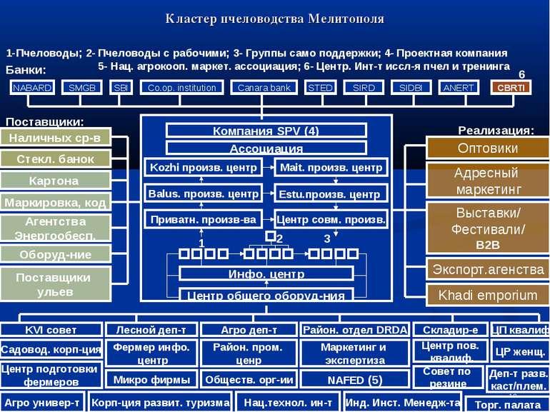 Кластер пчеловодства Мелитополя Компания SPV (4) Ассоциация Kozhi произв. цен...