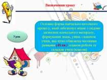 Визначення уроку Основна форма навчально-виховного процесу, який забезпечує м...