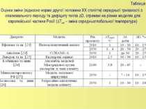 Таблиця 1 Оцінки зміни (відносно норми другої половини XX століття) середньої...