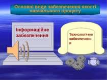 Основні види забезпечення якості навчального процесу Інформаційне забезпеченн...
