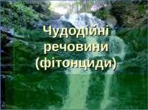 Чудодійні речовини (фітонциди)