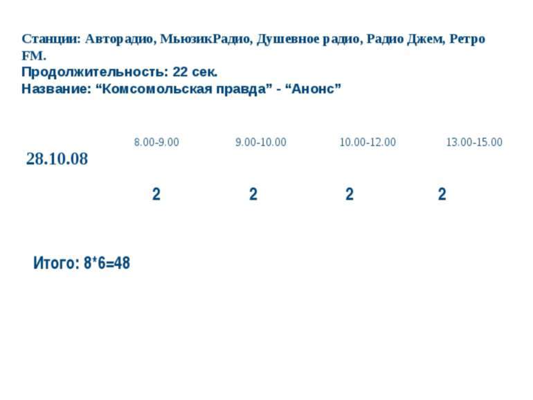 Комсомольская правда-Днепр, Дніпропетровськ Станции: Авторадио, МьюзикРадио, ...
