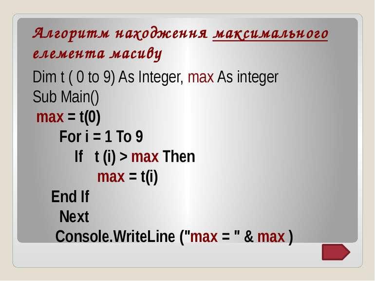 Домашнє завдання: Вивчити алгоритми знаходження мінімального і максимального ...