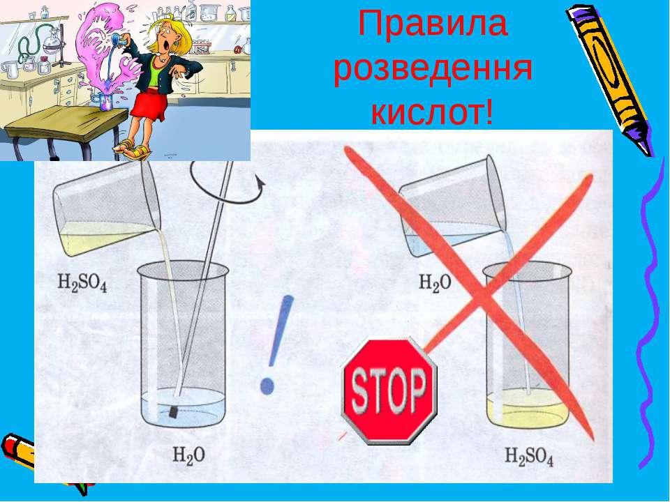 Правила розведення кислот!