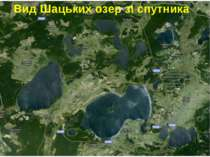 Вид Шацьких озер зі спутника