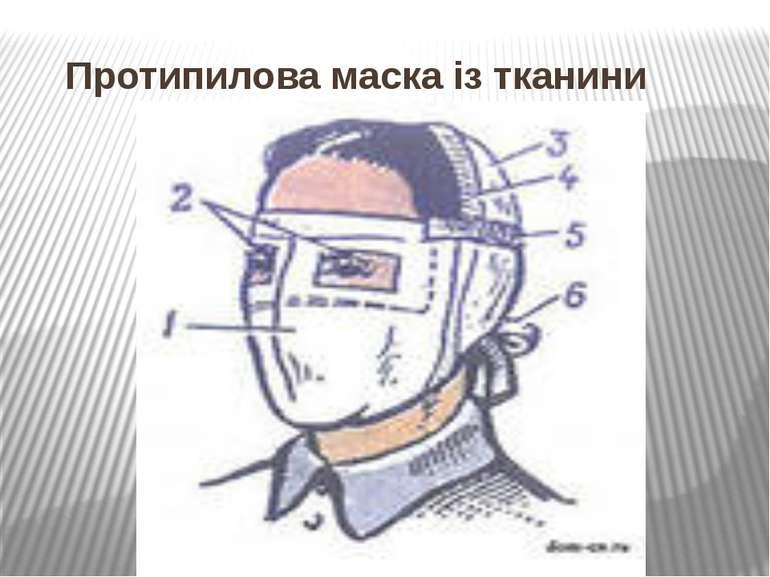 Протипилова маска із тканини
