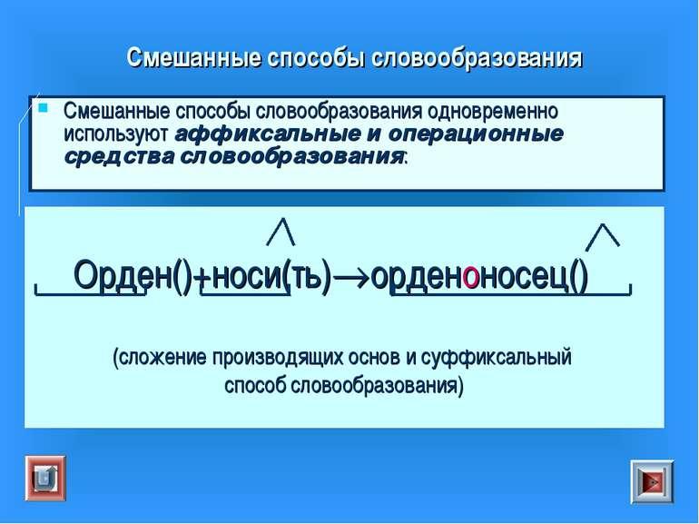Смешанные способы словообразования Смешанные способы словообразования одновре...