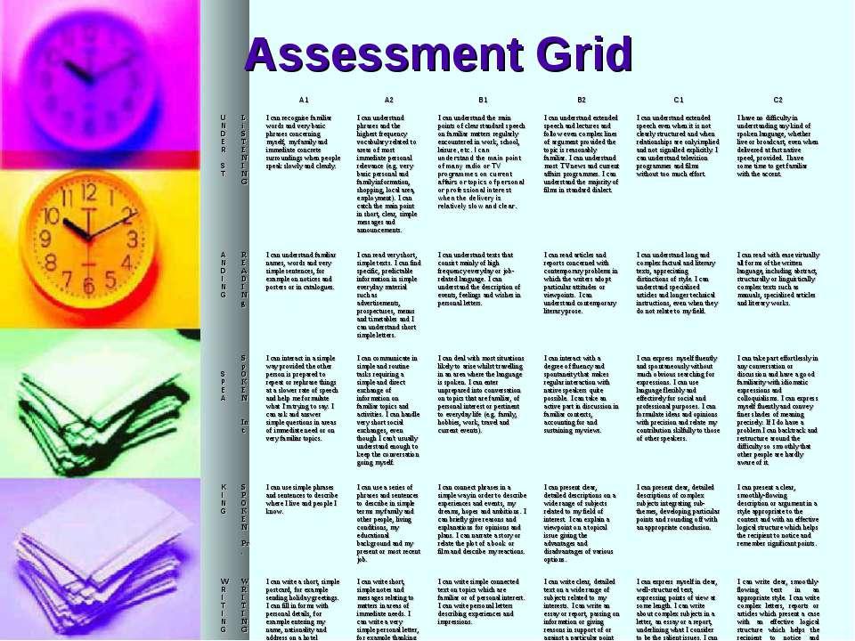 Assessment Grid