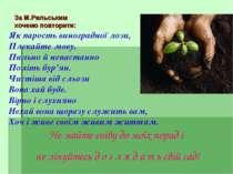 За М.Рильським хочемо повторити: Як парость виноградної лози, Плекайте мову. ...