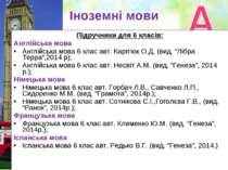 Іноземні мови Підручники для 6 класів: Англійська мова Англійська мова 6 клас...
