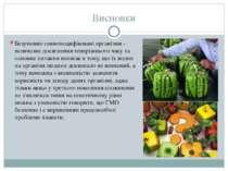 Висновки Безумовно генномодифіковані організми - величезне досягнення теперіш...