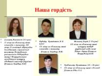 Наша гордість Семенюк Анастасія (11 клас) ІІ місце на обласному етапі олімпіа...