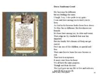 49 Down Syndrome Creed My face may be different, but my feelings the same, I ...
