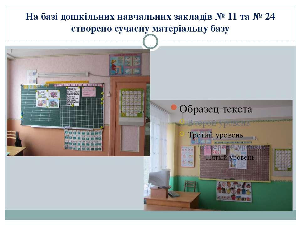 На базі дошкільних навчальних закладів № 11 та № 24 створено сучасну матеріал...