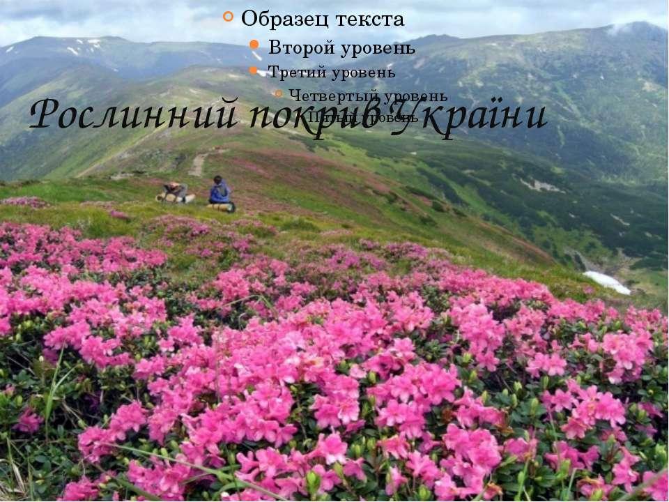 Рослинний покрив України