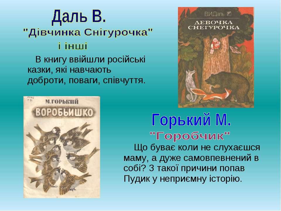 В книгу ввійшли російські казки, які навчають доброти, поваги, співчуття. Що ...