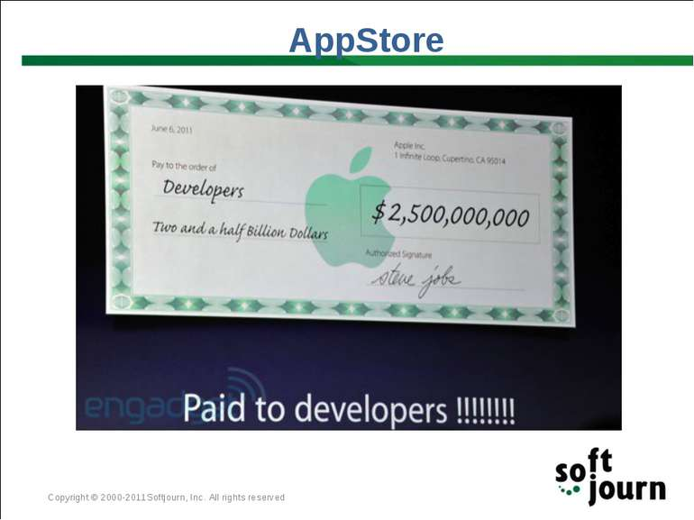 AppStore Copyright © 2000-2011Softjourn, Inc. All rights reserved