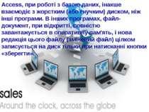 Access, при роботі з базою даних, інакше взаємодіє з жорстким (або гнучким) д...