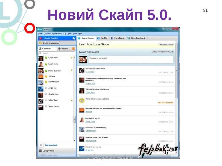 Новий Скайп 5.0. * 3/ Соціальні мережі