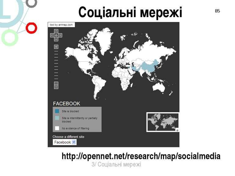 * http://opennet.net/research/map/socialmedia 3/ Соціальні мережі Соціальні м...