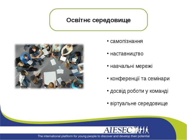 самопізнання наставництво навчальні мережі конференції та семінари досвід роб...