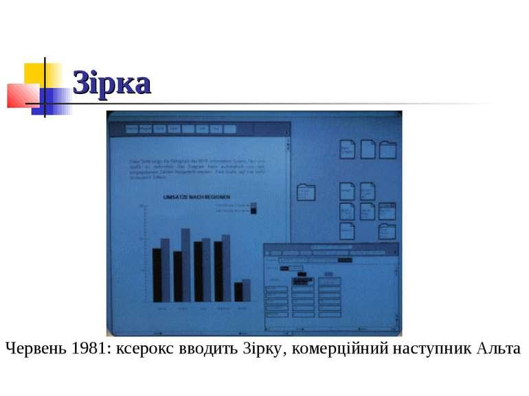 Зірка Червень 1981: ксерокс вводить Зірку, комерційний наступник Альта