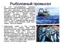 За счет интенсификации тралового промысла мелких пелагических видов рыб в 70-...