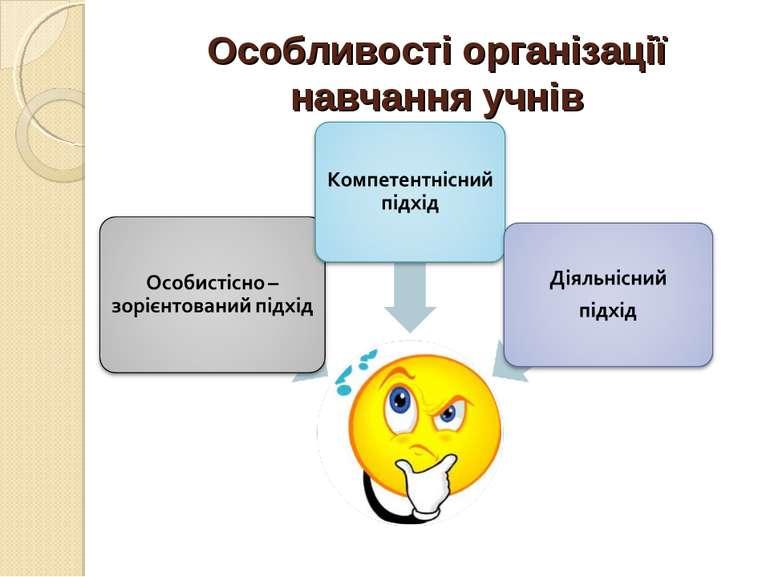 Особливості організації навчання учнів