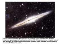 Галактики Спиральная галактика NGC891: примерно так выглядит наша Галактика с...