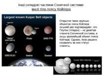 Інші складові частини Сонячної системи: малі тіла поясу Койпера Открытия таки...