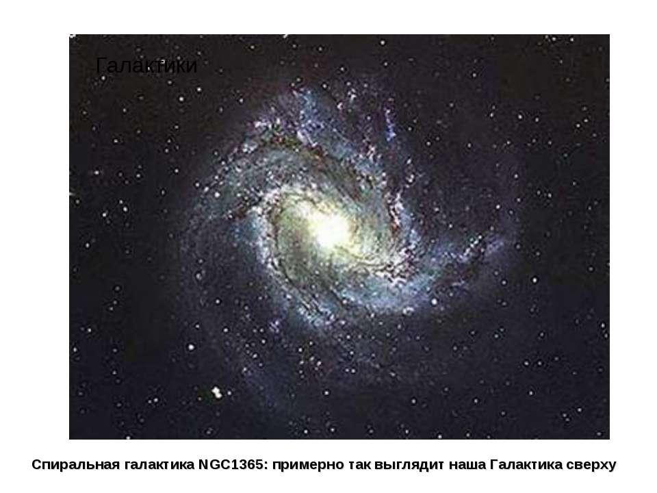 Спиральная галактика NGC1365: примерно так выглядит наша Галактика сверху Гал...