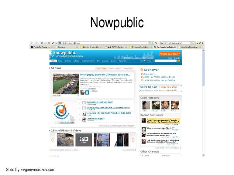 Nowpublic Slide by Evgenymorozov.com