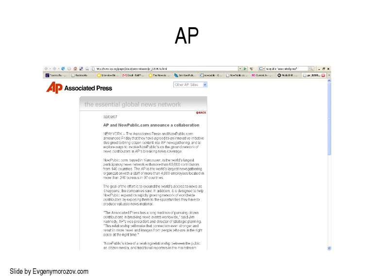 AP Slide by Evgenymorozov.com