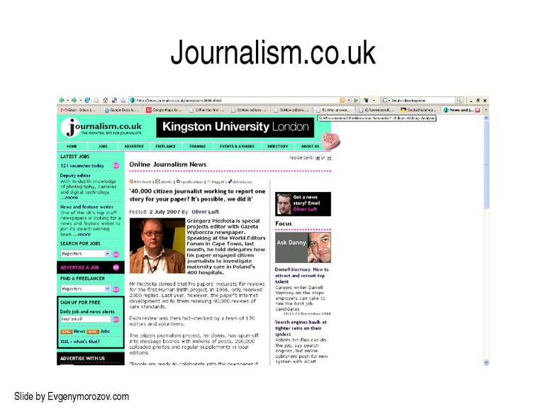 Journalism.co.uk Slide by Evgenymorozov.com