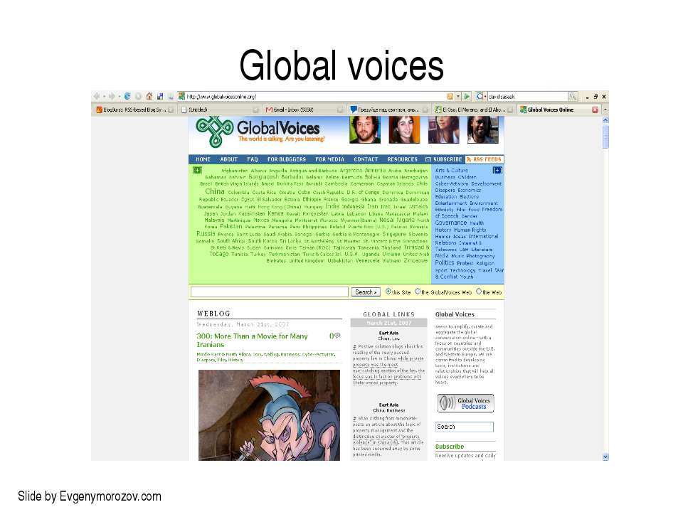 Global voices Slide by Evgenymorozov.com